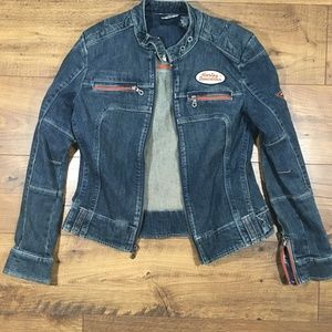 Harley Davidson denim jacket superb condition sz M